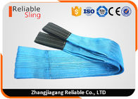 8 Ton Blue Reinforced Loop Eye Web Lifting Slings Flat Web Belt For Lifting Heavy Loads