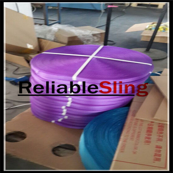 CE TUV Approved Ratchet Strap Webbing , Safety Polyester Webbing Straps